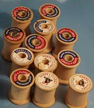 (12) Vintage Coats and Clarke's Spools