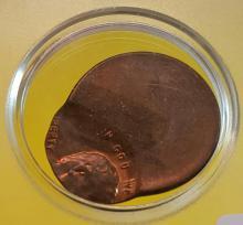 OFF-Set Lincoln Copper Cent Error