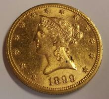 1899 $10 Gold Liberty Coin Uncirculated