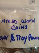 Mixed Bag of Old World Coins over 1/2 Troy Pound
