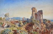 William Parrott (1813-1869) AN ANCIENT ROMAN RUIN signed wi