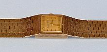 Bueche-Girod: a lady's 9ct. gold wristwatch, with square ba