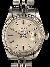 Rolex Oyster Perpetual Date: a lady's stainless