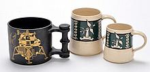 Two Holkham Pottery Slipware mugs of North-
