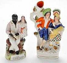 Staffordshire flat back figure of Uncle Tom and
