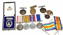A group of Second World War medals, to include: Defence Med
