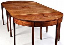 A George III mahogany D-end and drop leaf dining