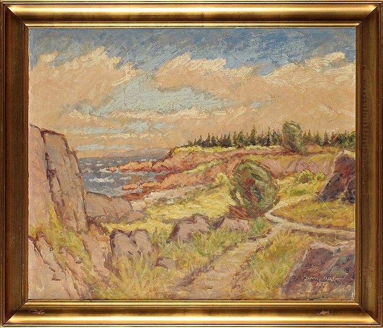 Jens Aabo A DANISH COASTAL SCENE signed and dated