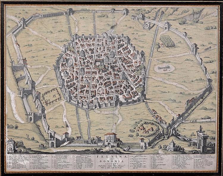 17th Century Italian School A PLAN OF THE ETRUSCAN