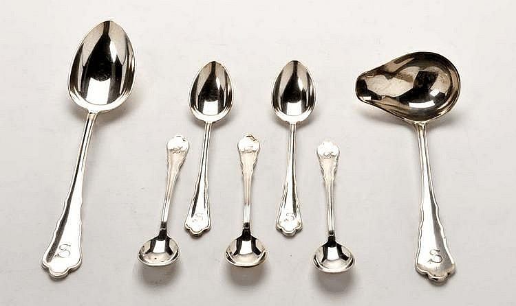 An Austrian 20th Century suite of flatware, by
