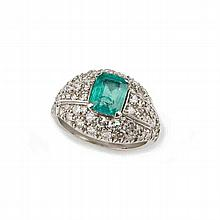 Emerald ring, approximately 1.00 carat