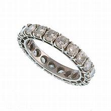 A diamond wedding ring