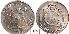 Luxambourg - 1 francs 1946 erreur de frappe, flan éllipsoïdale