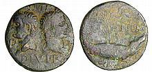Agrippa et Auguste - Dupondius de Nîmes (10-14 av. J.-C., Nîmes)