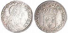 Louis XIV (1643-1715) - 1/12 d'écu au buste juvénile - 1662 R (Villeneuve-Saint-André-Lés-Avignon)