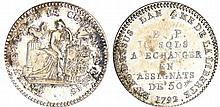 Constitution (1791-1792) - 10 sols de Lefèvre Lesage et Cie - 1792 / AN 4