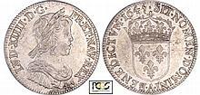 Louis XIV (1643-1715) - ¼ d'écu à la mèche courte - 1645 A (Paris) Point