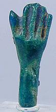 Egypte - Basse époque - Amulette en fritte (main) - 633-332 av. J.-C. - (26-30ème dynastie)