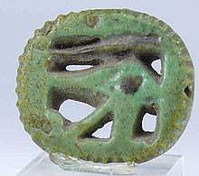 Egypte - Basse époque - Amulette en fritte (aeil oudja) - 633-332 av. J.-C. - (26-30ème dynastie)