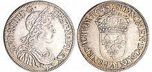Louis XIV (1643-1715) - ½ écu à la mèche courte - 1645 A (Paris) point