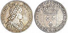 Louis XIV (1643-1715) - ½ écu à la mèche courte - 1645 A (Paris) rose