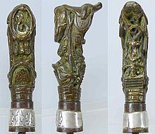 Pommeau de cravache en bronze - 17ème-18ème siècle