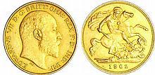 Grande Bretagne - Edward VII (1901-1910) - 1/2 souverain 1902 flan mate