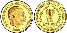 Côte d'ivoire - 25 francs1966