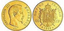 Napoléon III (1852-1870) - 100 francs tête nue 1858 A (Paris)