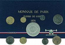 Cinquième république (1959- ) - Boitier Fleur de coin 1974