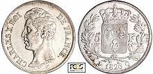 Charles X (1824-1830) - 5 francs 1er type 1826 Q (Perpignan)