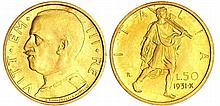 Italie - Vittorio Emanuelle III (1900-1946) - 50 lire 1931 X (Rome)