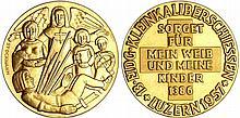 Suisse - Lucerne - Médaille de tir en or 1957