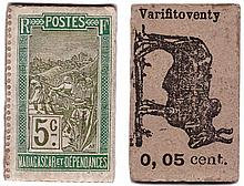Madagascar - Monnaie de carton - 5 centimes (Varifitoventy)