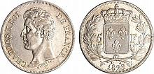 Charles X (1824-1830) - 5 francs 1er type 1826 W (Lille)