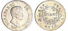 Bonaparte premier consul (1799-1804) - 1/4 franc An 12 A (Paris)