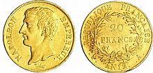Napoléon 1er (1804-1814) - 20 francs empereur An 12 A (Paris) sans point après FRANCAISE