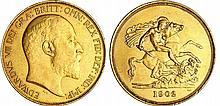 Grande Bretagne - Edward VII (1901-1910) - 5 pounds 1902