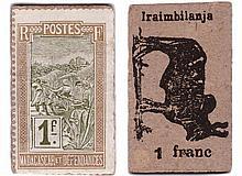 Madagascar - Monnaie de carton - 1 franc (Iraimbilanja)