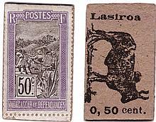 Madagascar - Monnaie de carton - 50 centimes (Lasiroa)
