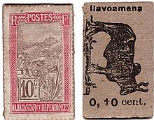 Madagascar - Monnaie de carton - 10 centimes (Ilavoamena)
