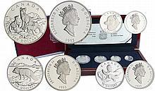 Canada - Coffret le renard arctique 4 monnaies en platine - 300, 150, 75 et 30 dollars 1993 platine