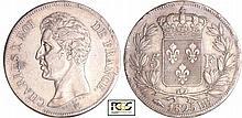 Charles X (1824-1830) - 5 francs 1er type 1825 BB (Strasbourg)