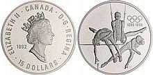Canada - 100ème anniversaire des JO - 15 dollars 1992 argent