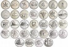 Canada - Collection des 32 dollars en argent commémoratifs de 1971 à 2002