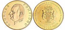 Gabon - Visite de Georges Pompidou - 5000 francs 1971