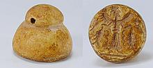 Sumérien - Sceau cylindre en pierre - 2ème mill. av. J.-C.