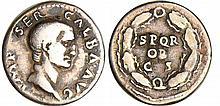 Galba - Denier (68, Rome) - Couronne