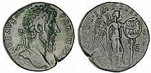 Lucius Vérus - Sesterce (166, Rome) - La Victoire