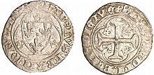 Charles VII (1422-1461) - Blanc à la couronne - Chinon
